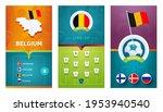 belgium european 2020 football... | Shutterstock .eps vector #1953940540