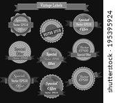 set of retro vintage labels ... | Shutterstock .eps vector #195395924