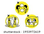 avoid the three cs. crowded...   Shutterstock .eps vector #1953972619