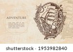 adventure. pirate ship goes by... | Shutterstock .eps vector #1953982840