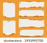 ripped paper isolated orange... | Shutterstock .eps vector #1953993700