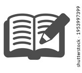 open book with pencil solid...   Shutterstock .eps vector #1953997399