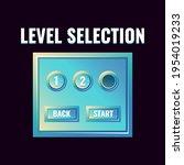 fantasy glossy game ui level...