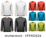 colorful male long sleeved... | Shutterstock .eps vector #195402626