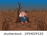 due to poor monsoon farmers...   Shutterstock .eps vector #1954029133