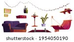 set of attic furniture and...   Shutterstock .eps vector #1954050190