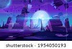 outer space website. vr... | Shutterstock .eps vector #1954050193