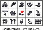 charity icon set. collection of ... | Shutterstock .eps vector #1954051696