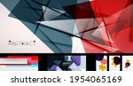 vector abstract background set. ... | Shutterstock .eps vector #1954065169
