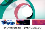 vector abstract background set. ... | Shutterstock .eps vector #1954065190