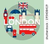 set of london symbols | Shutterstock . vector #195408419