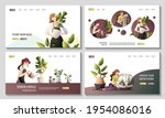 set of web pages with women...   Shutterstock .eps vector #1954086016
