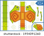 kids craft game. cut and glue...   Shutterstock .eps vector #1954091260