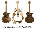 grunge stylized spanish guitars ...