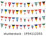 garland banners with pennants... | Shutterstock .eps vector #1954112353