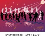 illustration with group of... | Shutterstock .eps vector #19541179
