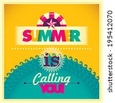 colorful summer background.... | Shutterstock .eps vector #195412070