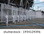 turnstile gate in front of...   Shutterstock . vector #1954129396
