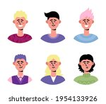 vector flat set with different...   Shutterstock .eps vector #1954133926