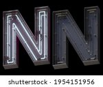 Metal Neon Font With On And Off....