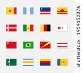 set of fictional flags. world...   Shutterstock .eps vector #1954152376