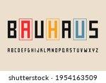 bauhaus geometric typographic... | Shutterstock .eps vector #1954163509