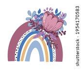 rainbow clip art  rainbow... | Shutterstock .eps vector #1954170583