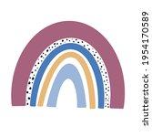 rainbow clip art  rainbow... | Shutterstock .eps vector #1954170589