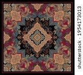 Silk Scarf Pattern Background ...