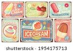 ice cream and summer desserts...   Shutterstock .eps vector #1954175713