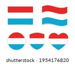 flag luxembourg icon heart... | Shutterstock .eps vector #1954176820