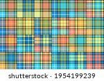multicolor patchwork quilt ... | Shutterstock .eps vector #1954199239