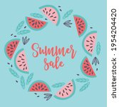summer greeting card with...   Shutterstock .eps vector #1954204420