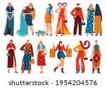 set zodiac signs  horoscope...   Shutterstock .eps vector #1954204576