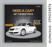 rent a car for social media... | Shutterstock .eps vector #1954219876