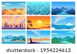 different nature landscape...   Shutterstock .eps vector #1954224613