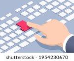 isometric vector illustration... | Shutterstock .eps vector #1954230670