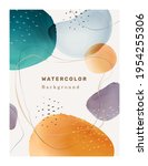 creative paintbrush spots ... | Shutterstock .eps vector #1954255306