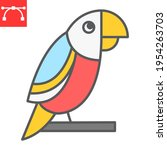 parrot color line icon  pet and ... | Shutterstock .eps vector #1954263703