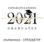 class of 2021 congratulations...   Shutterstock .eps vector #1954268749