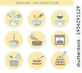 cooking cake. preparing food... | Shutterstock .eps vector #1954291129