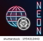 glowing neon line gmo icon... | Shutterstock .eps vector #1954313443