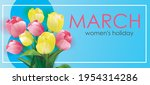 happy womens day. 8 march... | Shutterstock .eps vector #1954314286
