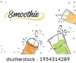 smoothie background. cold... | Shutterstock .eps vector #1954314289