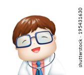 nice doctor in smiley face... | Shutterstock . vector #195431630