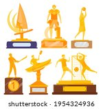 gold trophy  bright sports... | Shutterstock .eps vector #1954324936