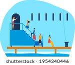 modern liner for travel  cruise ...   Shutterstock .eps vector #1954340446