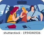 comfortable car  male... | Shutterstock .eps vector #1954340536