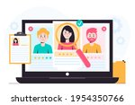 recruitment concept. search ...   Shutterstock .eps vector #1954350766