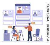 recruitment concept. search ...   Shutterstock .eps vector #1954350769